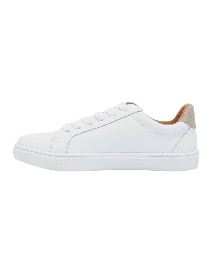Saxon White Glove/ Taupe Suede Sneaker image 1