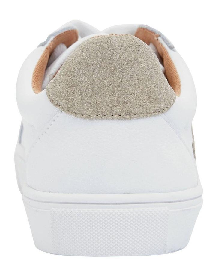 Saxon White Glove/ Taupe Suede Sneaker image 4