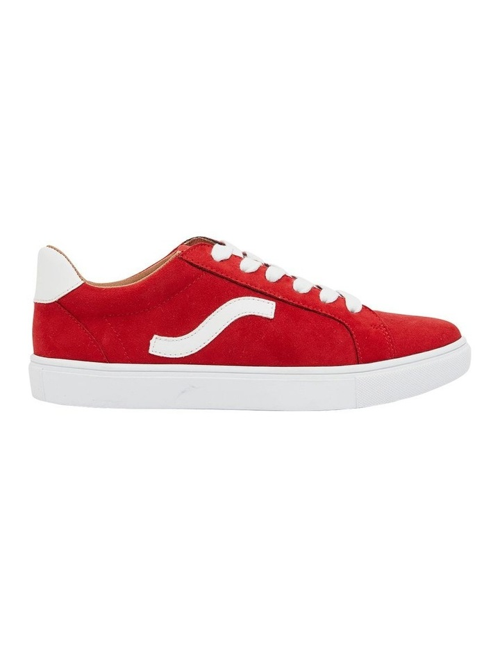 Swerve Red Micro Suede Sneaker image 1
