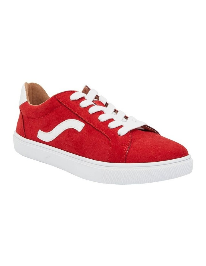 Swerve Red Micro Suede Sneaker image 2
