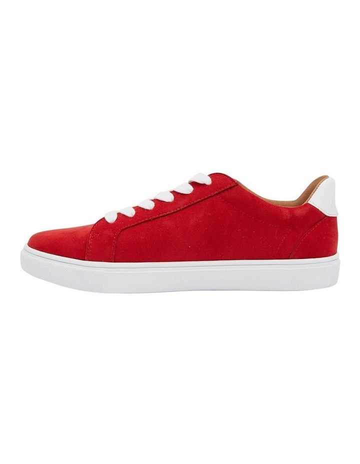 Swerve Red Micro Suede Sneaker image 3
