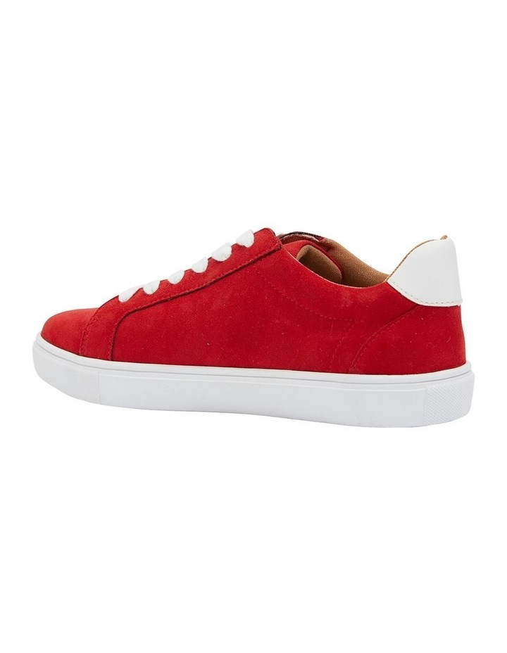 Swerve Red Micro Suede Sneaker image 4