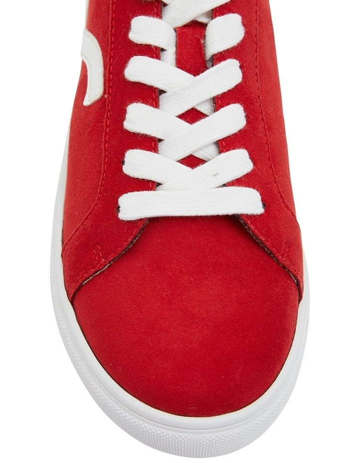 Swerve Red Micro Suede Sneaker image 5