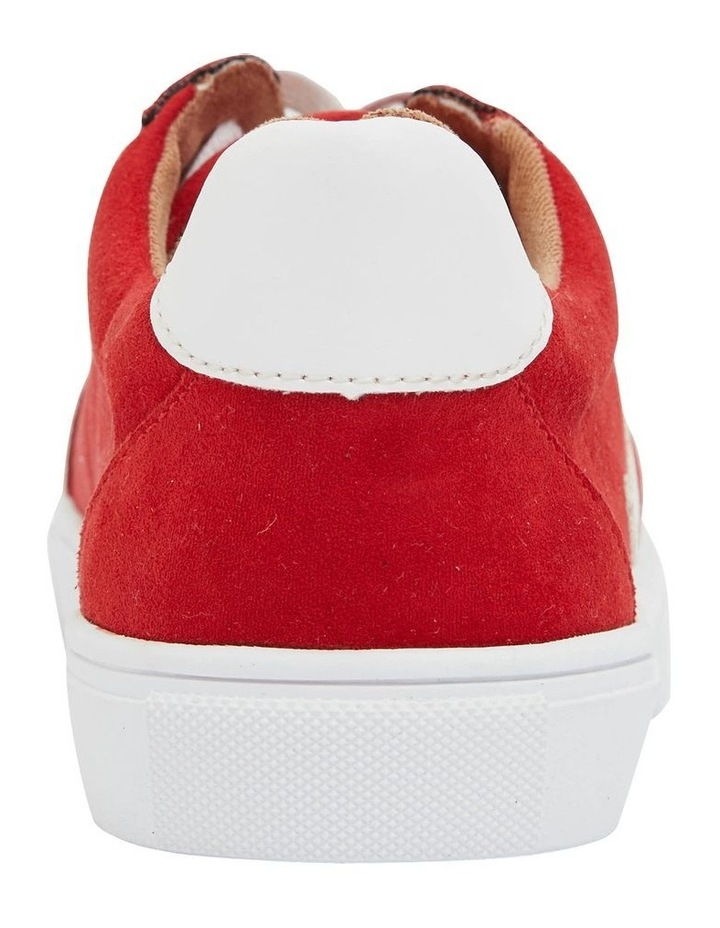 Swerve Red Micro Suede Sneaker image 6