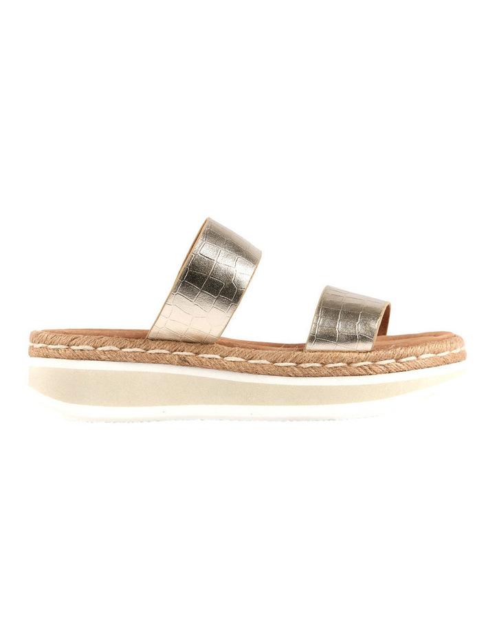 Umbria Gold Croc Sandal image 1