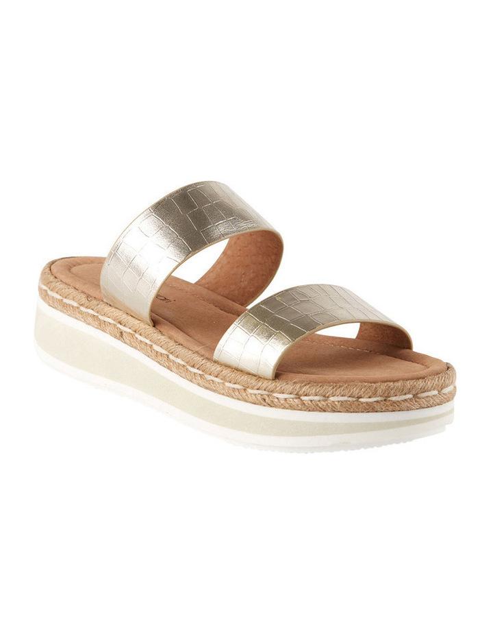Umbria Gold Croc Sandal image 2