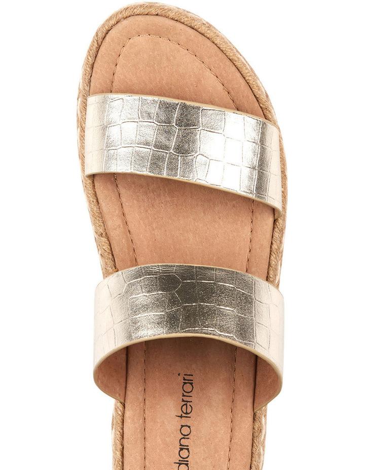 Umbria Gold Croc Sandal image 3