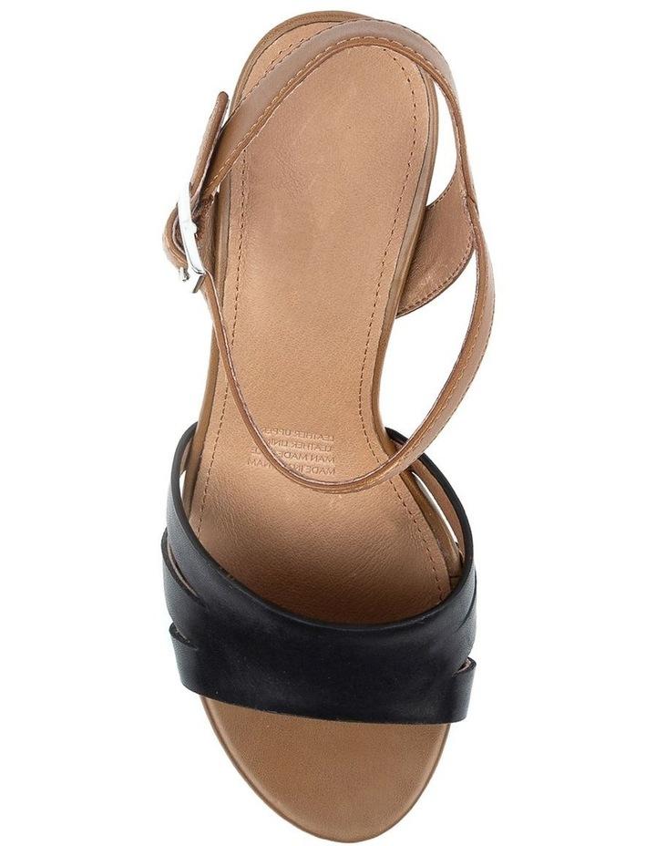 Mackenna Black/Dark Tan Sandal image 5