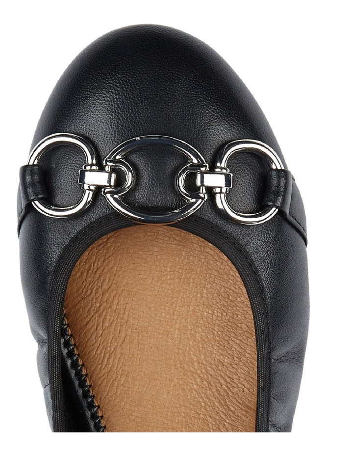 Hemingway Black Leather Pump image 2