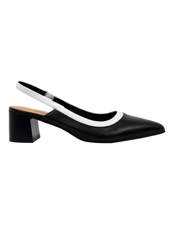 Gabrine Black/White Heeled Shoe image 1