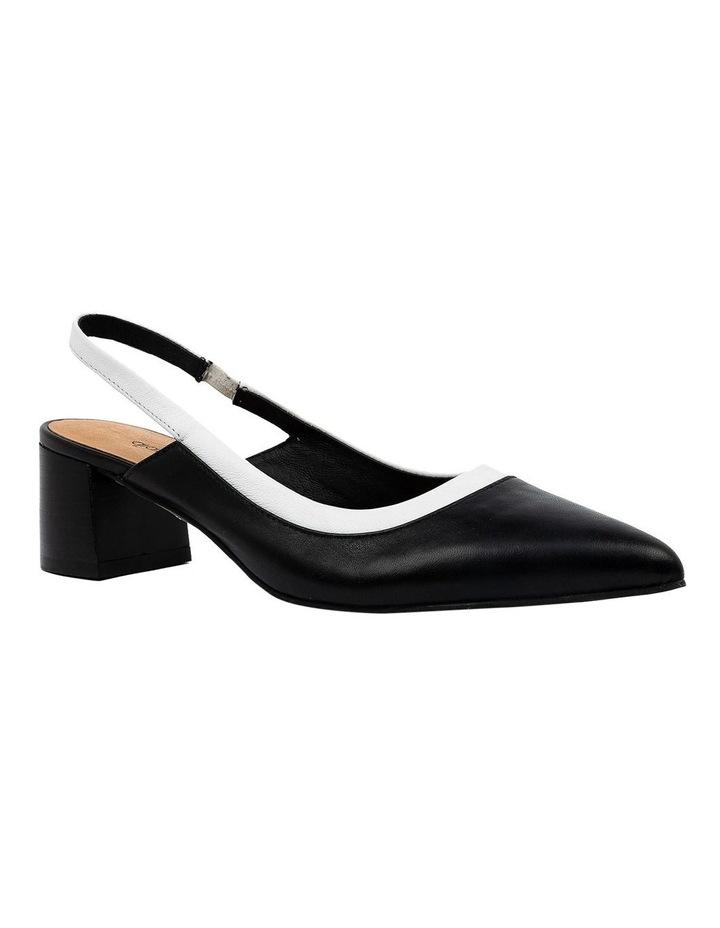 Gabrine Black/White Heeled Shoe image 2