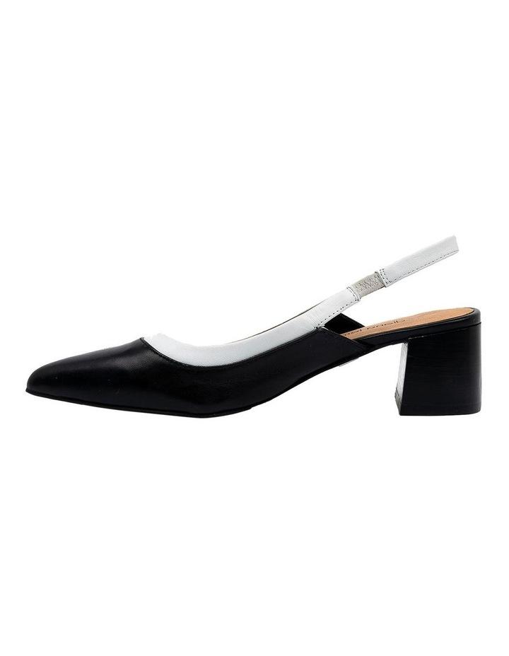 Gabrine Black/White Heeled Shoe image 3