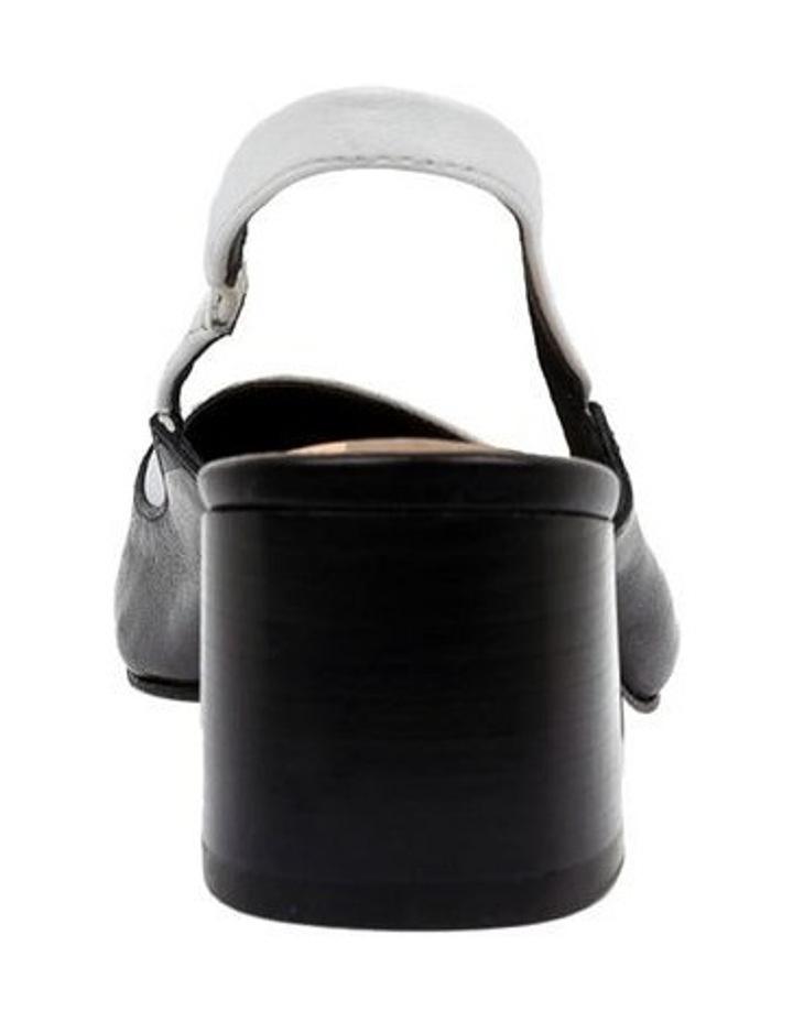 Gabrine Black/White Heeled Shoe image 4