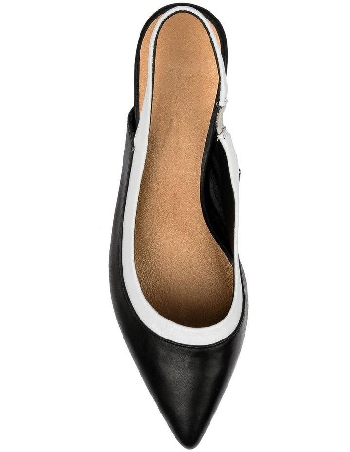 Gabrine Black/White Heeled Shoe image 5