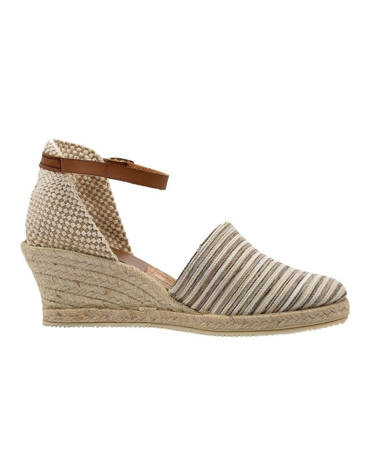 Trey Beige Stripe Heeled Shoe image 1