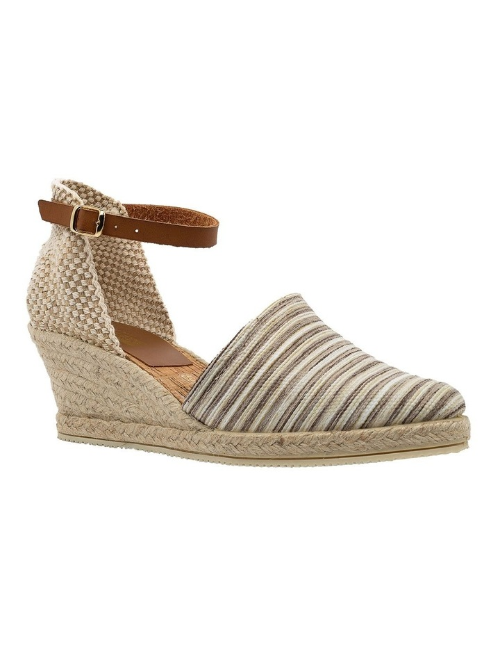 Trey Beige Stripe Heeled Shoe image 2