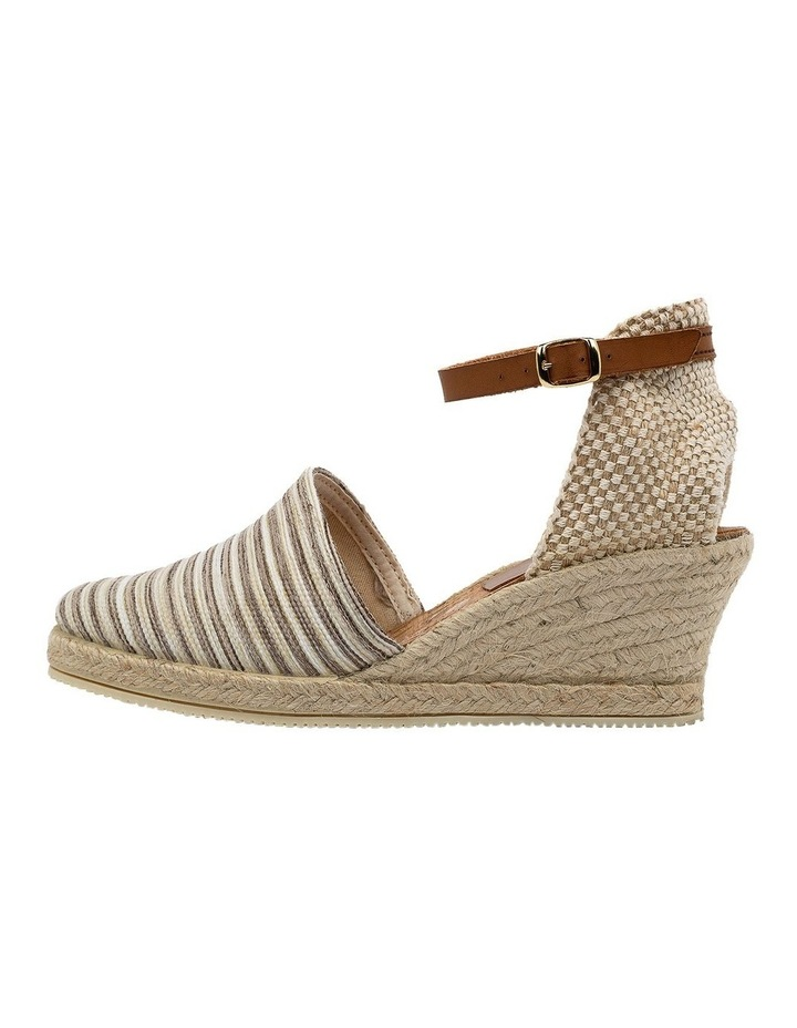 Trey Beige Stripe Heeled Shoe image 3