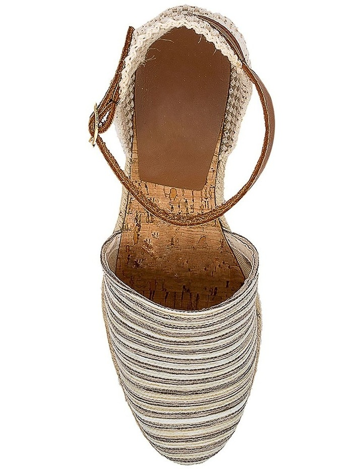 Trey Beige Stripe Heeled Shoe image 5