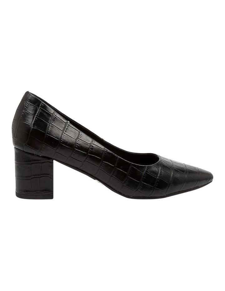 Langer Black Croc Heeled Shoes image 1