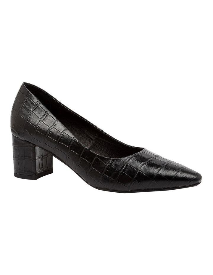 Langer Black Croc Heeled Shoes image 2