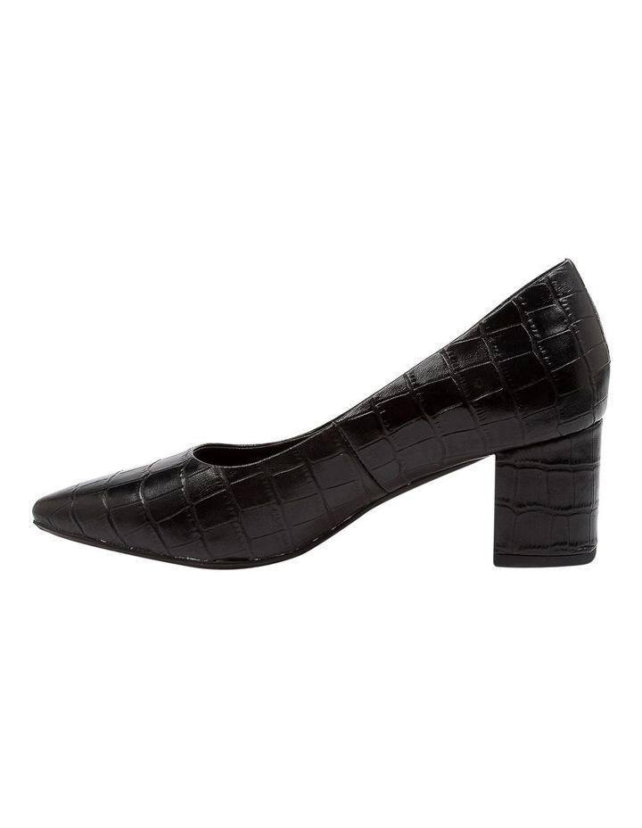 Langer Black Croc Heeled Shoes image 3