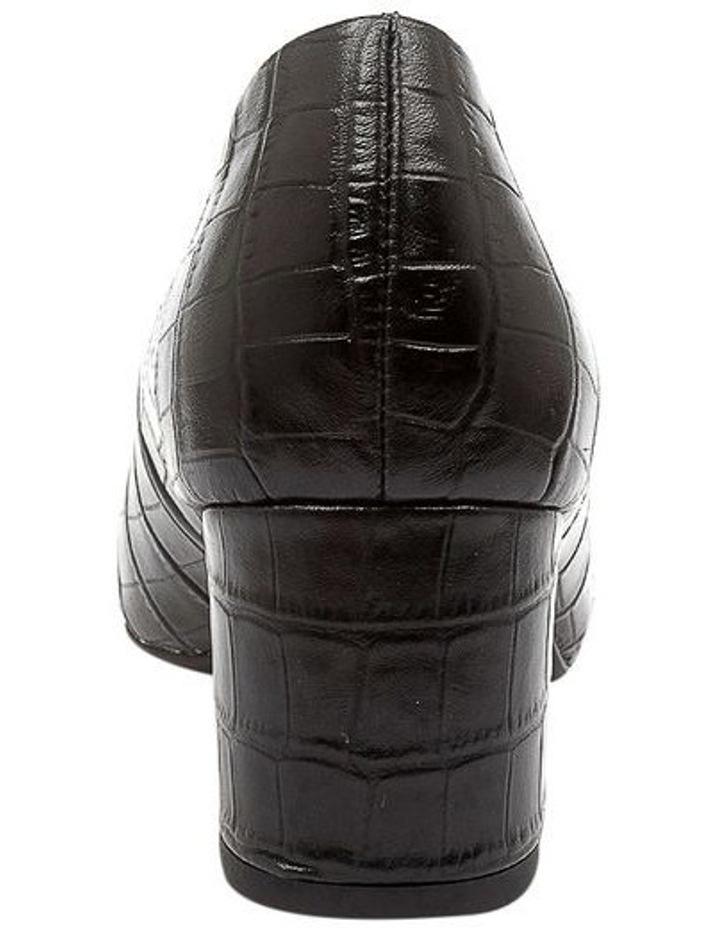Langer Black Croc Heeled Shoes image 4