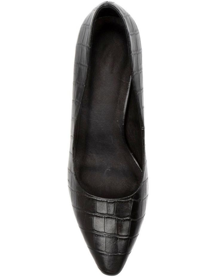 Langer Black Croc Heeled Shoes image 5