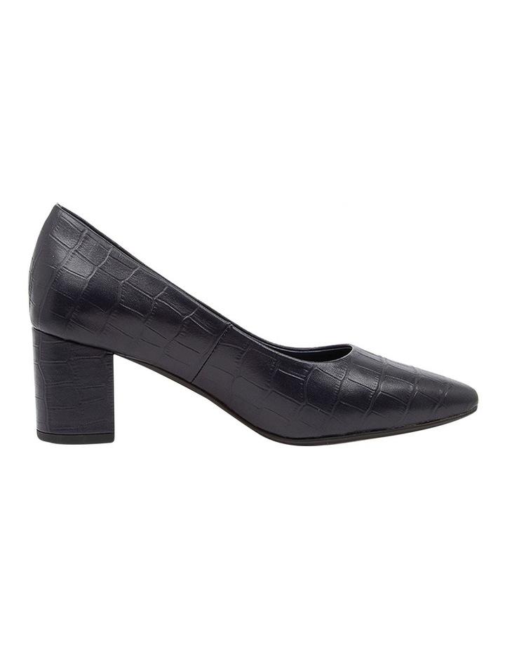 Langer Navy Croc Heeled Shoes image 1