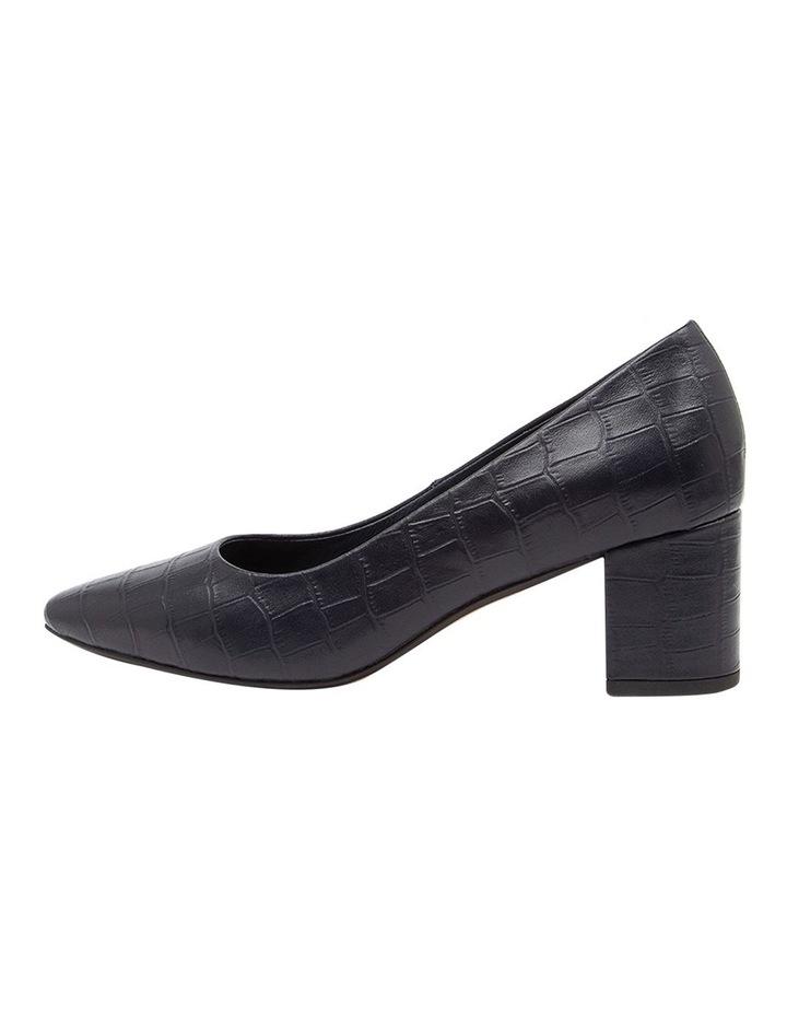 Langer Navy Croc Heeled Shoes image 3