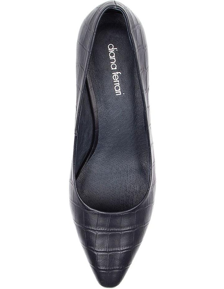 Langer Navy Croc Heeled Shoes image 5