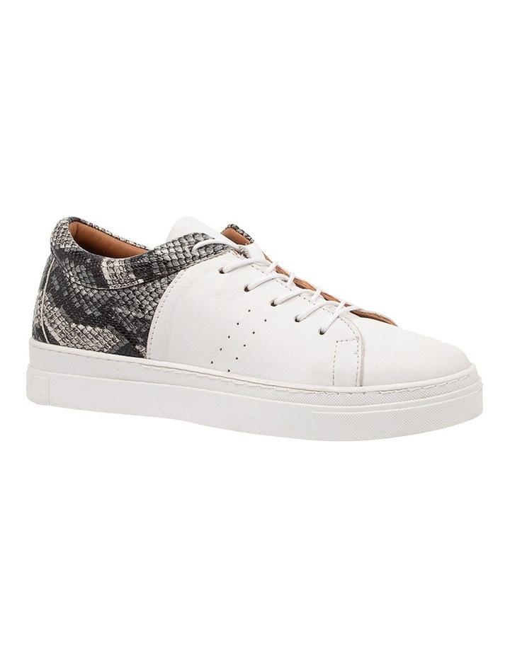 Azela White Natural Snake Sneaker image 2