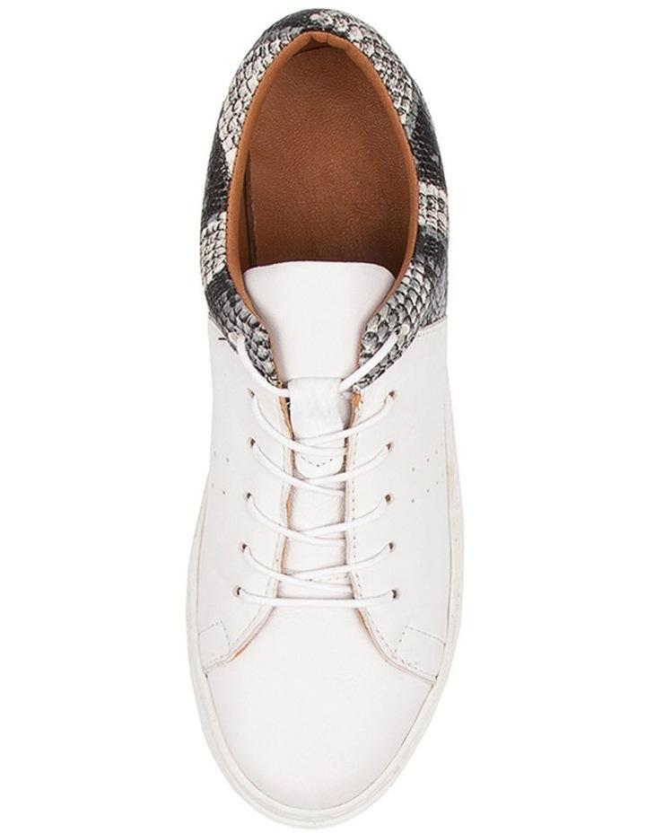 Azela White Natural Snake Sneaker image 5