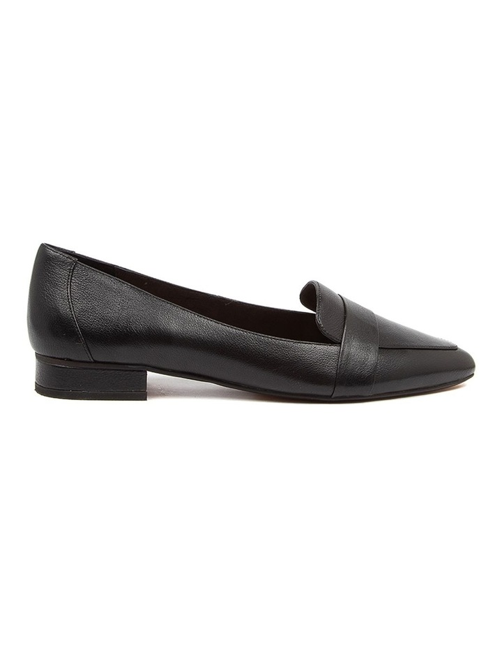 Disolo Black Leather Flat Shoes image 1