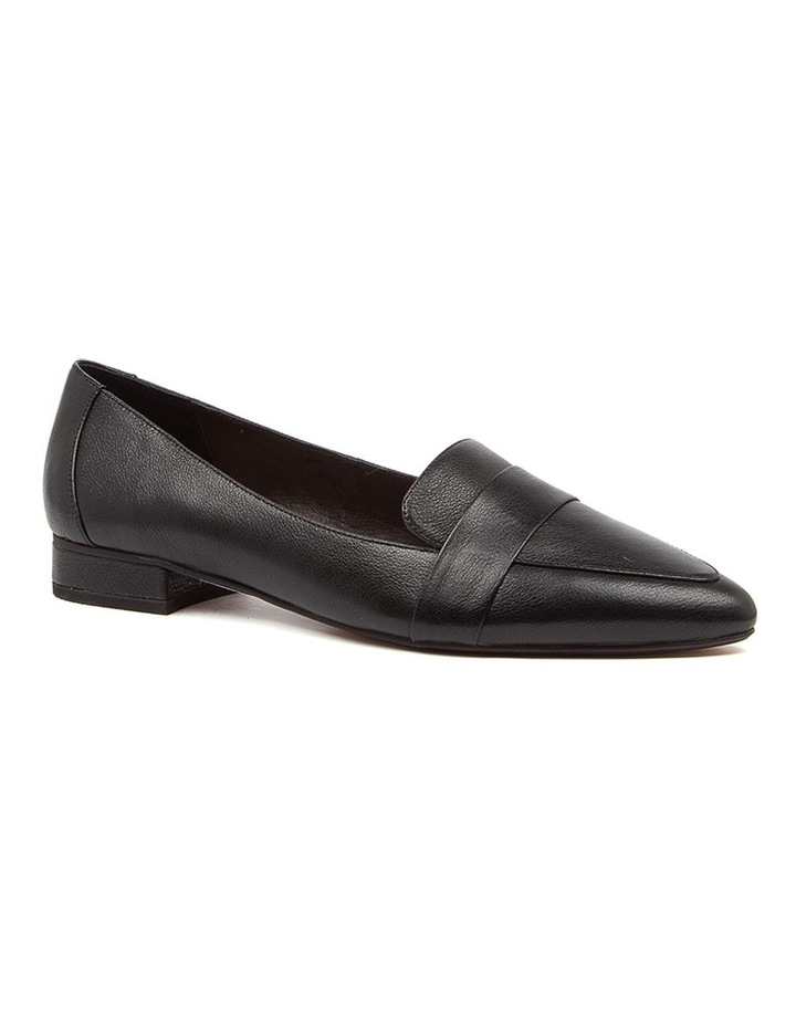 Disolo Black Leather Flat Shoes image 2