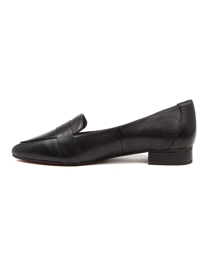 Disolo Black Leather Flat Shoes image 3