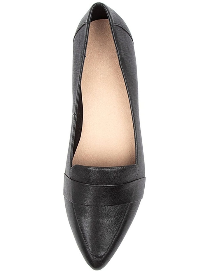 Disolo Black Leather Flat Shoes image 5