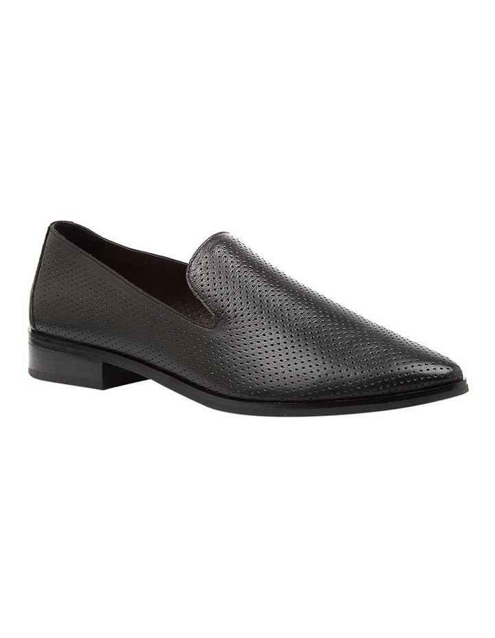 Nansie Black/Black Leather Flat Shoes image 2