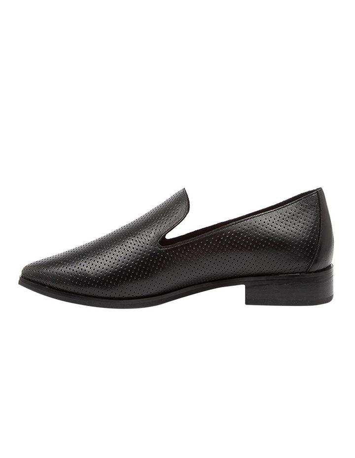 Nansie Black/Black Leather Flat Shoes image 3