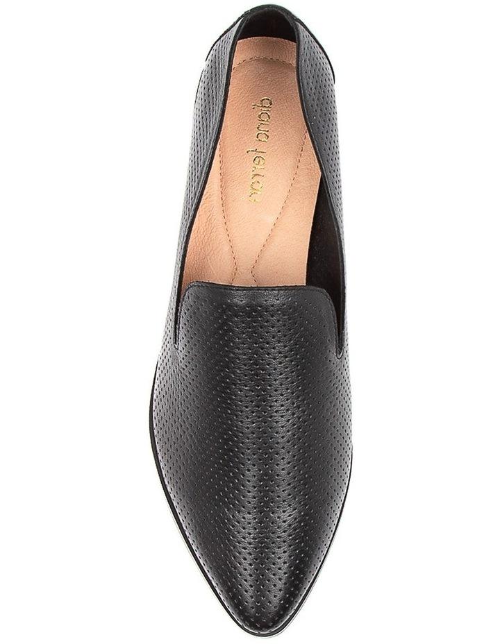 Nansie Black/Black Leather Flat Shoes image 5