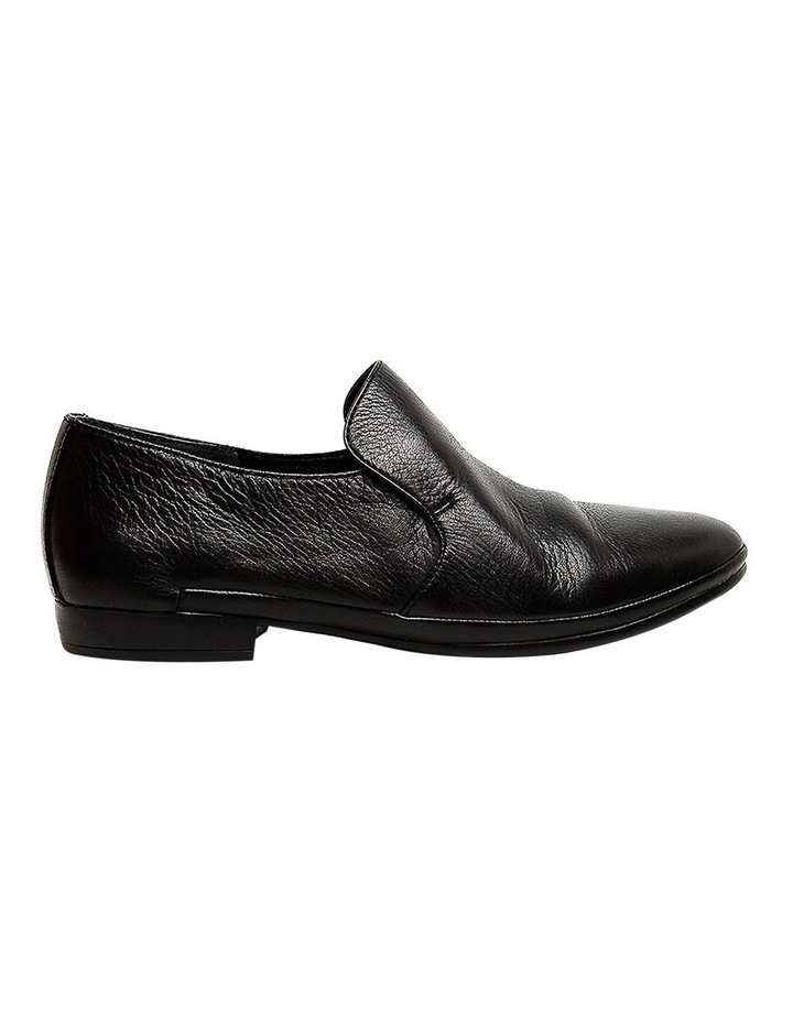 Ooma Black Leather Flat Shoes image 1
