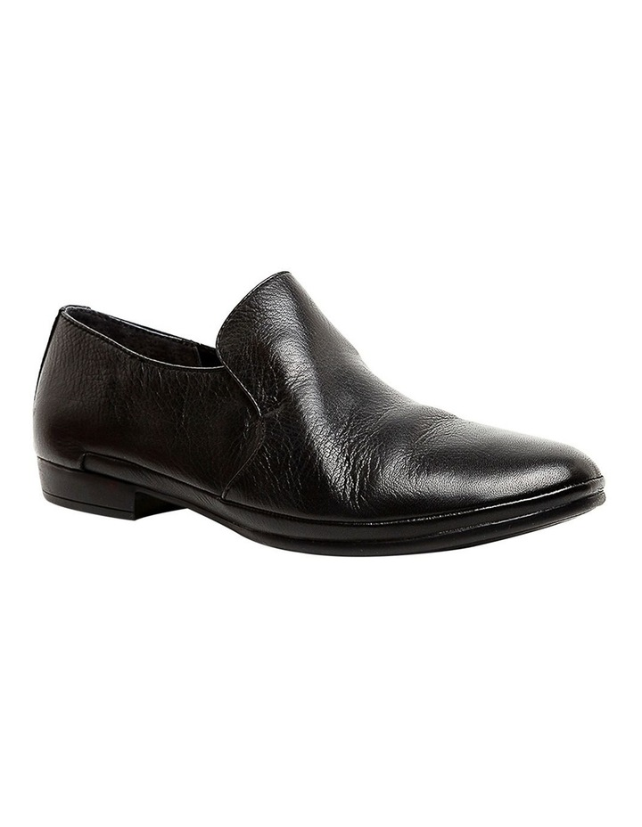 Ooma Black Leather Flat Shoes image 2