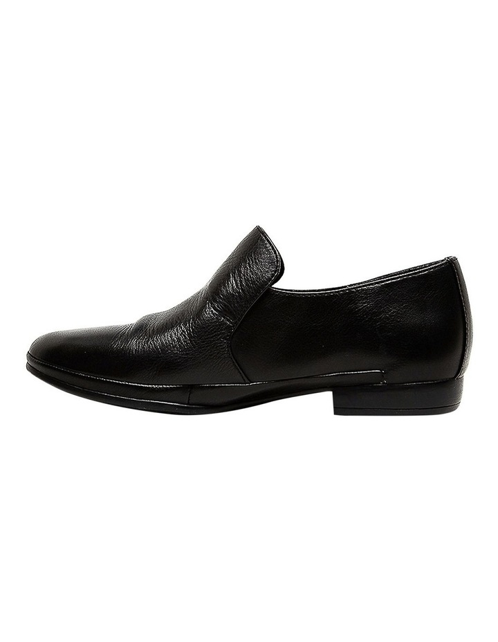 Ooma Black Leather Flat Shoes image 3