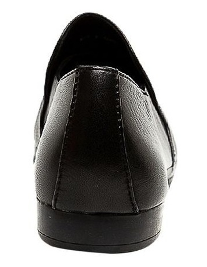 Ooma Black Leather Flat Shoes image 4