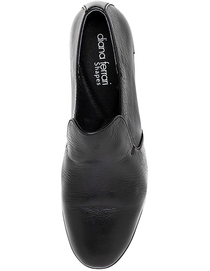 Ooma Black Leather Flat Shoes image 5