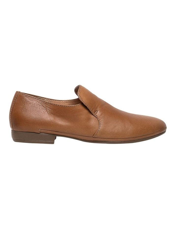 Ooma Dark Tan Leather Flat Shoes image 1