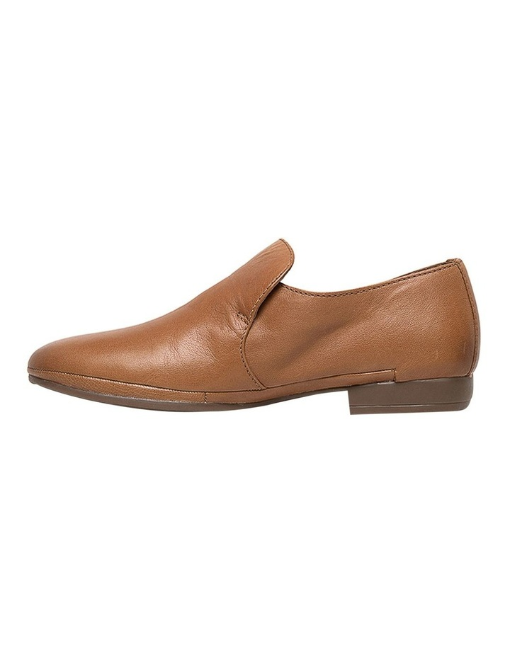 Ooma Dark Tan Leather Flat Shoes image 3