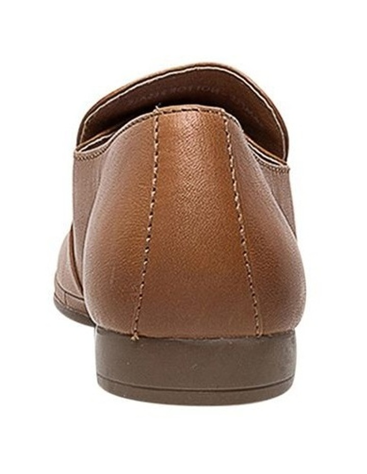 Ooma Dark Tan Leather Flat Shoes image 4