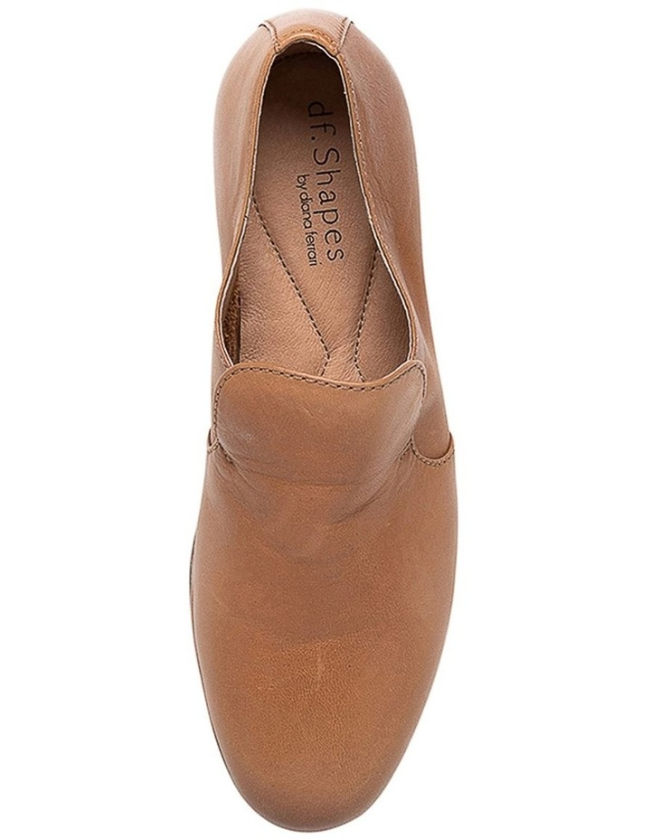 Ooma Dark Tan Leather Flat Shoes image 5