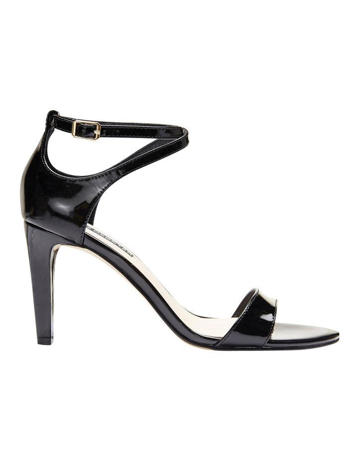 GODDESS Black Patent Stilletto Sandal image 1
