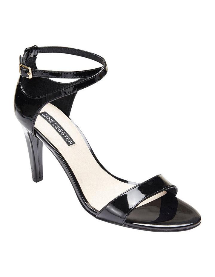 GODDESS Black Patent Stilletto Sandal image 2